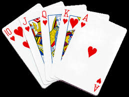 """Is this a royal flush? A """"straight""""? I don't know poker, but this is something good."""