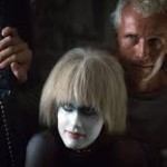 Daryl Hannah as a nimbly vacant Pris, Rutger Hauer as the mad-eyed Batty.