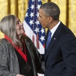 Robinson receives the National Humanities Medal from Obama in 2012.