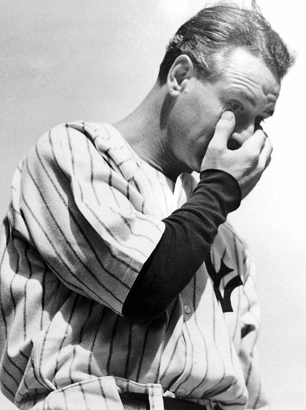 Image result for baseballs lou gehrig's says his farewell